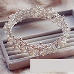 Silver Plated Full Crown Royal Tiara Bridal Wedding Crown