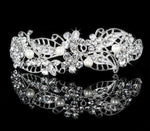 Hair Accessories Austrian Crystal Hair Ornament For Women Wedding Party Bridal Crowns Simulated Pearl