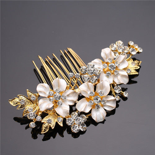 Bridal Rhinestone Crystal Hair Comb Bride Wedding
