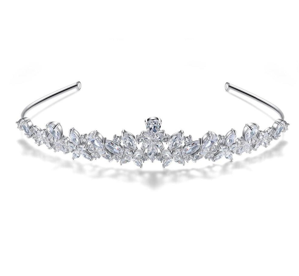 Pretty Princess Tiara for Prom, Pageant, Sweet 16 Crown Hair Accessory