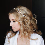 Leaves Wedding Hair Accessories Bridal Hair Vine Wedding Headband Crystal Tiara Head Piece