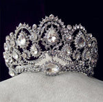 European Crystal Tiaras Vintage Gold Rhinestone Pageant Crowns With Comb Baroque Wedding Hair Accessories