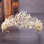 Baroque Vintage Gold Wedding Hair Accessories Rhinestone Crystal Tiaras  Crown Bridal
