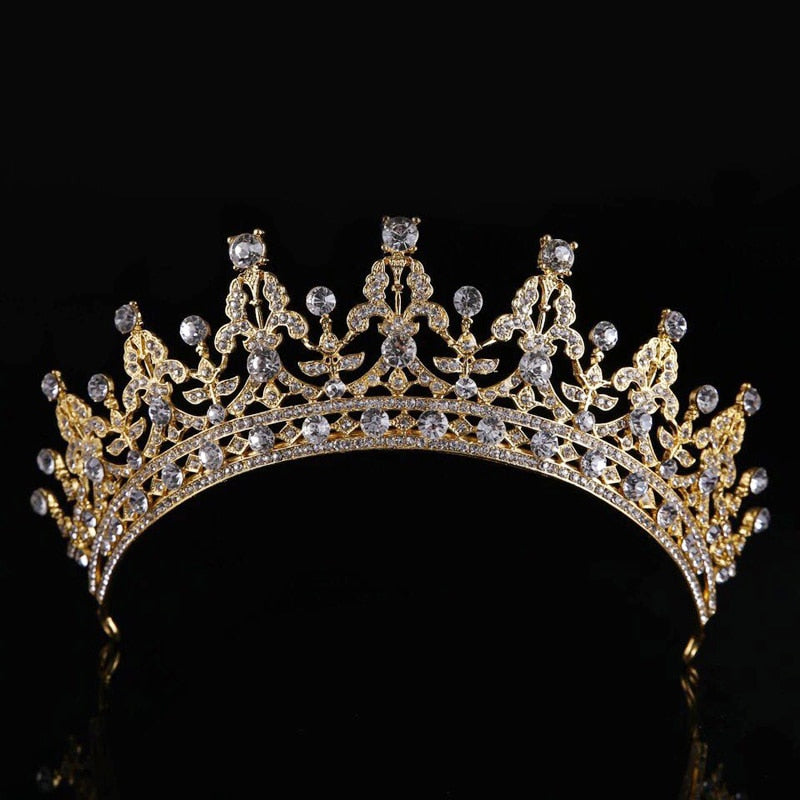 Luxury Bridal Crystal Tiara Crowns Princess Queen Pageant Prom Rhinestone Veil Tiaras Headband Wedding Hair Accessories
