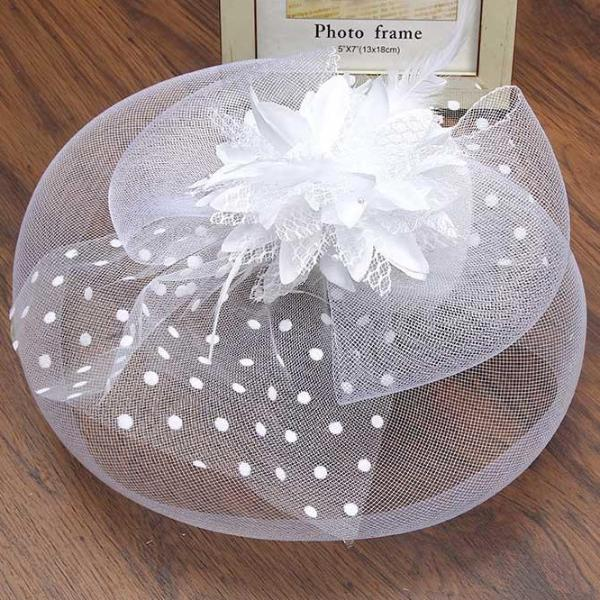 Ladies Elegant Fascinator Hat Flower Hair Accessories Wedding Church Hat Cocktail Feather Headwear