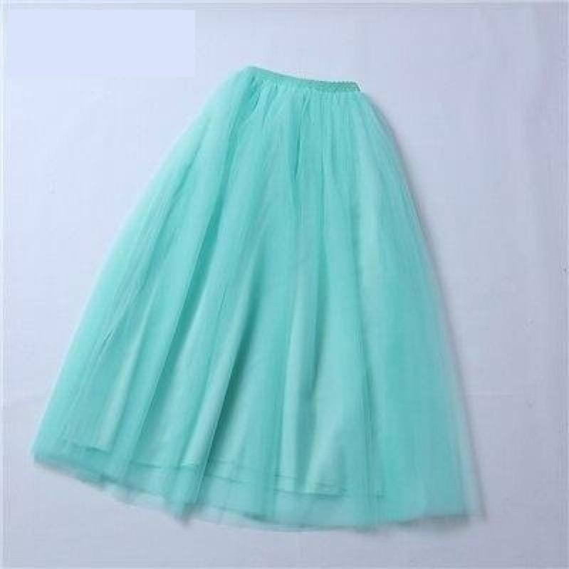 4 Layer Maxi Ankle Length Organza  Bridesmaid Wedding Skirt One Size - TulleLux Bridal Crowns &  Accessories