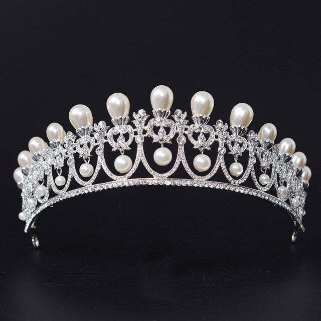 Large Vintage Crystal Bridal Tiaras Crowns Rhinestone Bride Hair Accessory