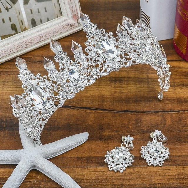 Wedding Hair Accessories Crystal Bridal Pageant Tiaras Rhinestone Crowns