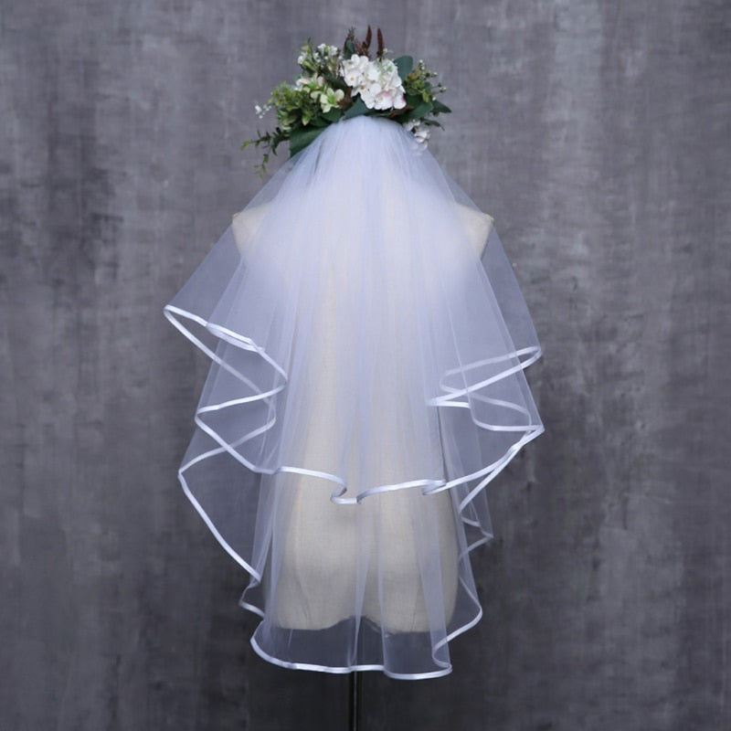 Tulle Ribbon Edge Bridal Veil Accessory
