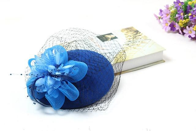 Elegant Fascinators Wedding Hat for Brides Flowers Ladies
