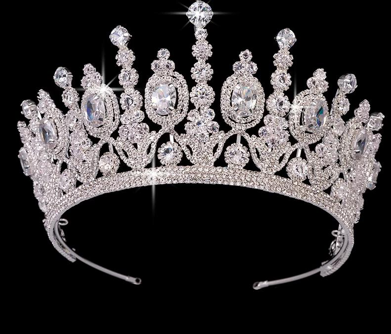 Elliptical Zircon Wedding Bridal Crown