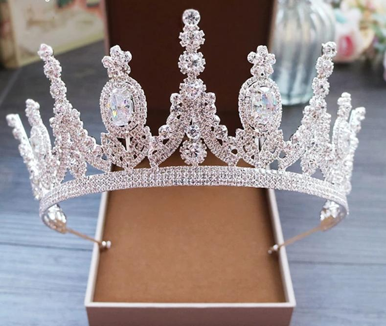 Princess Crown Cubic Zinconia  Tiara Hair Band Jewelry Wedding Tiaras Crowns