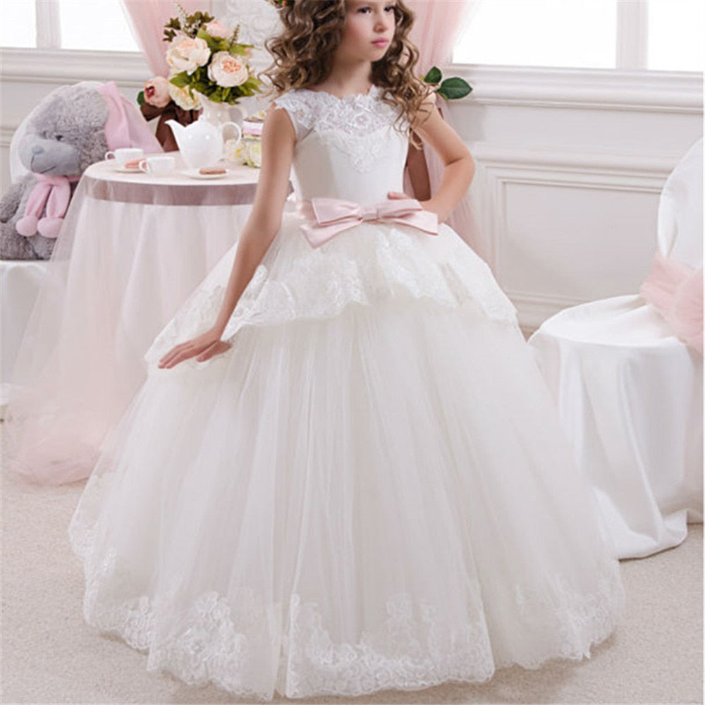 Princess Flower Girl Dress Wedding Birthday Party Dresses For Girls