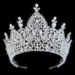 Tiara Bridal Crown Pageant Wedding Hair Accessories Royal Zirconia Imperial Crown