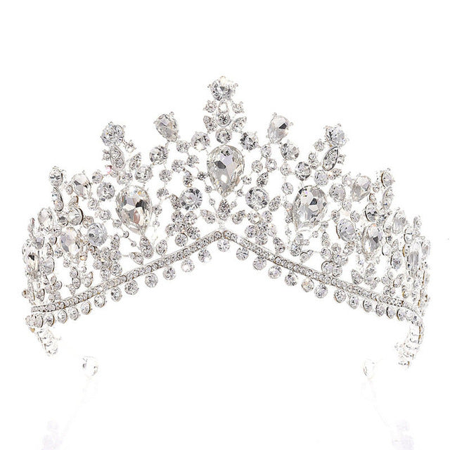 Bride Crown Rhinestone Tiaras Hair Crowns and tiaras Wedding hair Jewelry Princess Diadem Prom Pageant