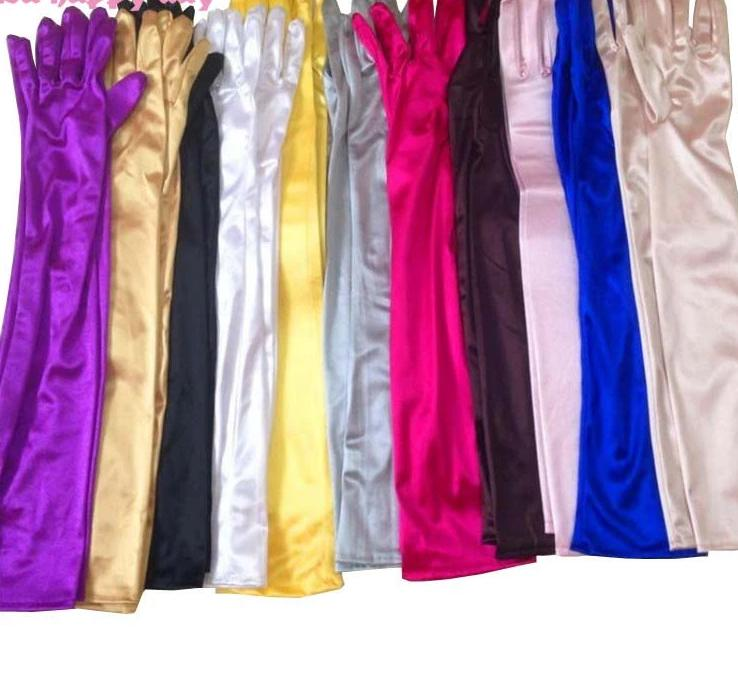 Ladies Dress Pageant Fingerlings Elegant Gloves in Multiple Satin Colors