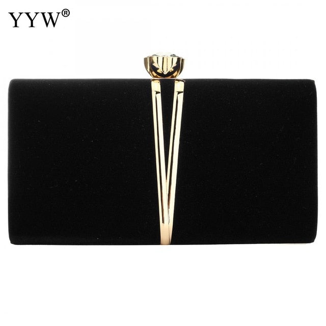 Luxurious Black Evening Clutch Bag Comes in 4 Elegant Colors