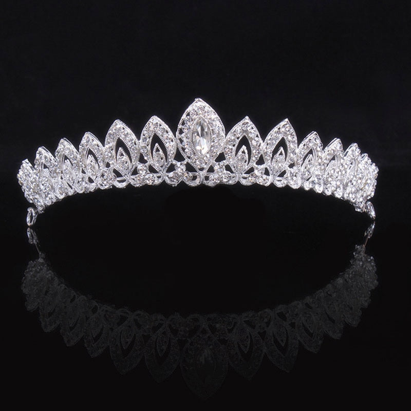 Crystal Princess Queen Crown Pageant Bridal Wedding Tiara