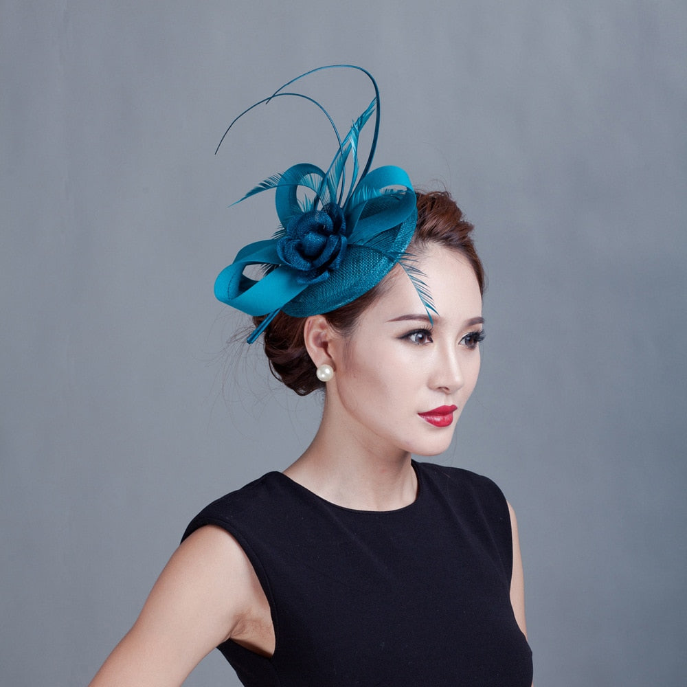 Fashion Flower Feather Hats Elegant Fascinators