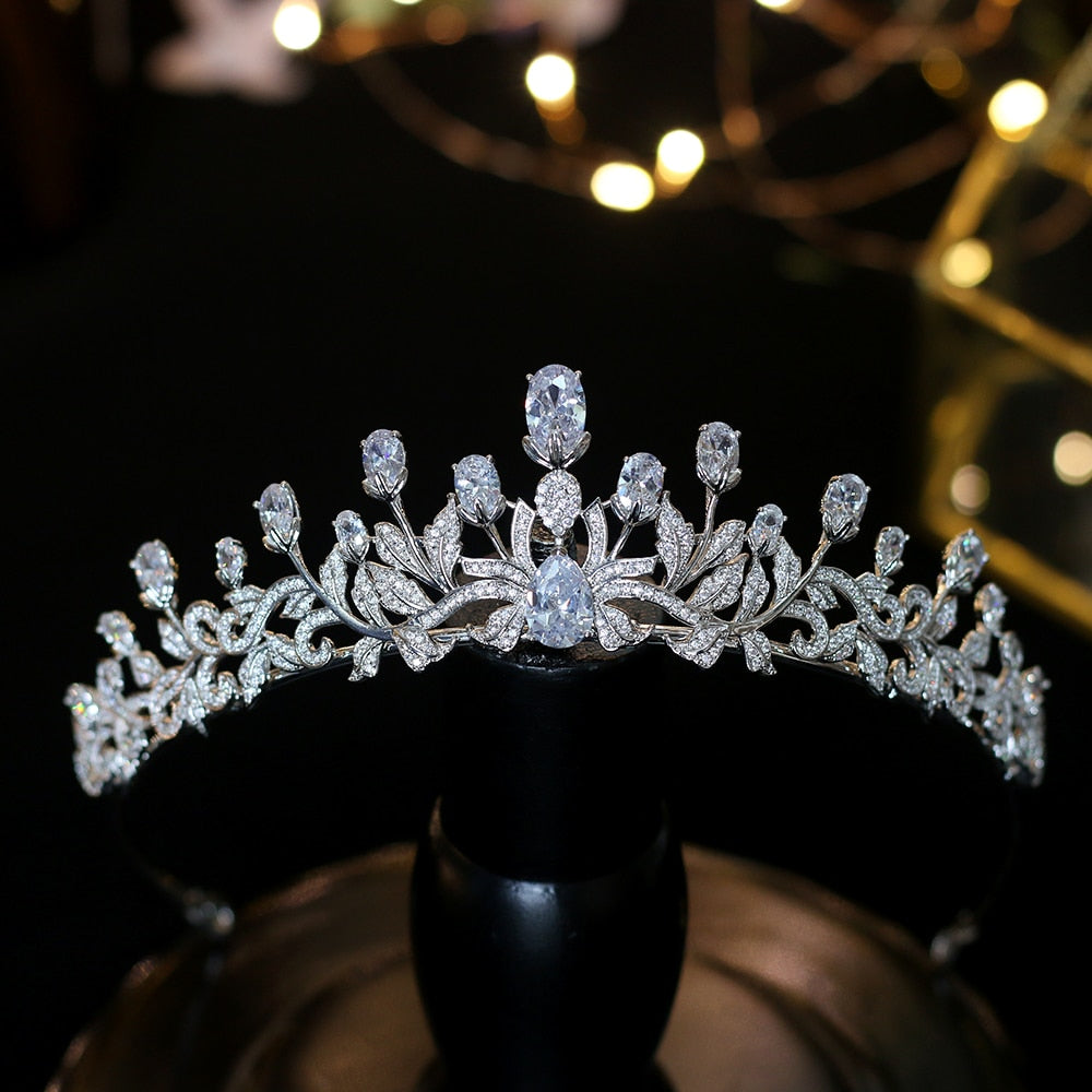 Fashionable Princess Zircon Tiaras Sweet 16 Girls Hair Accessory