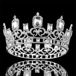 Vintage Baroque Large Blue Crystal Queen Full Crown - TulleLux Bridal Crowns &  Accessories