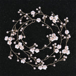 Delicate Elegant Hair Bridal Wedding Simulation Pearl  Flower Hair Vine