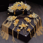 Chinese Bride Headdress Classical Phoenix Hair Comb Crown