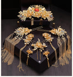 Chinese Bride Headdress Classical Phoenix Hair Comb Crown - TulleLux Bridal Crowns &  Accessories