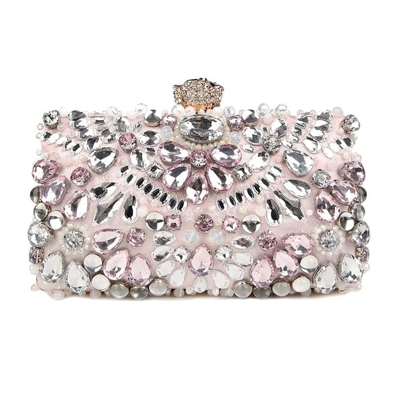 Rhinestone Evening Bag  Beaded Day Clutch Purses and Handbags