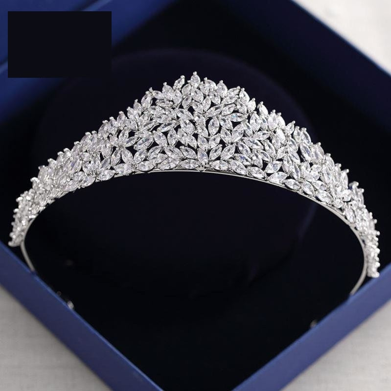 Sparkling Zircon Wedding Tiaras Crowns European Bridal Hairbands Crystal Brides Hair Accessories Prom Hair Jewelry