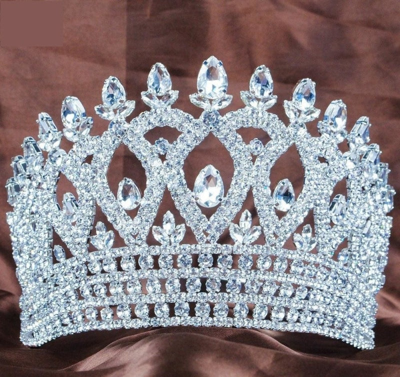 Details about  /Clear Tiara Headband Rhinestones Wedding Crown Beauty Pageant Party Costumes