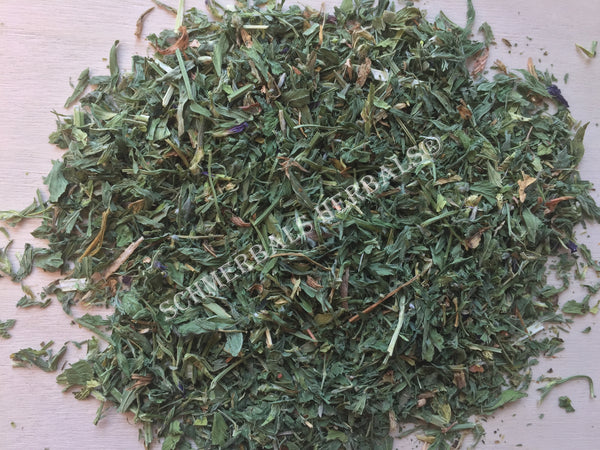 Dried Cut and Sifted Alfalfa Leaf, Medicago sativa, For Sale From Schmerbals Herbals