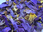 "Dried Organic Crushed Blue Lotus Flower, Nymphaea caerulea, ""Deep Purple Thai™"" For Sale from Schmerbals Herbals"