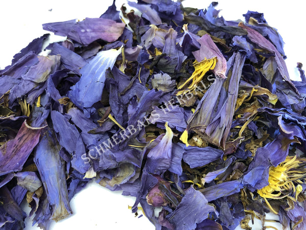 Dried Organic Crushed Blue Lotus Flower, Nymphaea caerulea, For Sale from Schmerbals Herbals