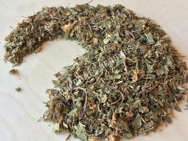 Dried Gotu Kola Leaf and Wild-Crafted Leaf, Centella asiatica, for Sale from Schmerbals Herbals