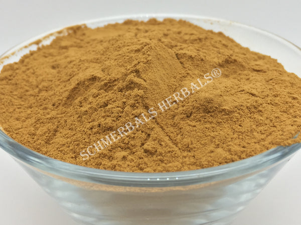 Dried Organic 20:1 Guarana Seed Powder Extract, Paullinia cupana, for Sale from Schmerbals Herbals