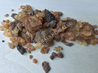 Dried Myrrh Gum Grade A+ Pieces, Commiphora molmol, for Sale from Schmerbals Herbals
