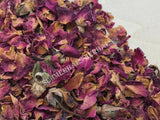 Dried Red Rose Buds and Petals, Rosa canina, for Sale from Schmerbals Herbals
