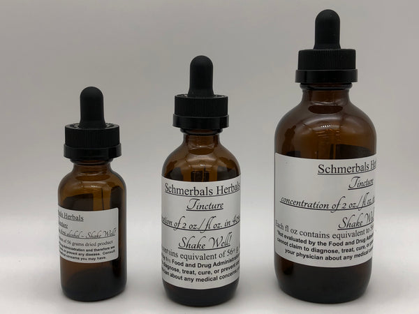 Organic Double Strength Mexican Dream Herb Tincture, Calea Zacatechichi, in 40% Grain Neutral Spirits for Sale from Schmerbals Herbals