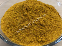 Dried Turmeric Root Powder, Curcuma longa, for Sale from Schmerbals Herbals