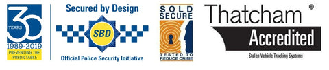 Secured By Design, Thatcham, and Sold secure approved products