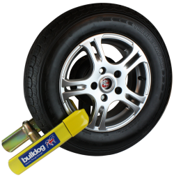Wheel clamp for cars