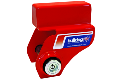 Bulldog AJ10 Alko Caravan Hitch Lock unfitted on a white background