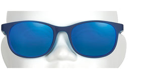 Blue round rec sunglasses, polarized lens, trendy sunglasses for kids, youth sunnies, shades, light blue children's sunglasses, design in Canada, best quality kids sunglasses
