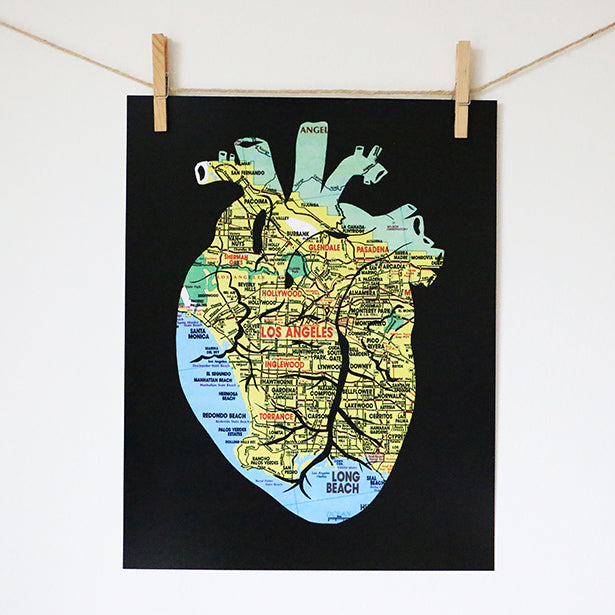 """Heart of Los Angeles"" Print"