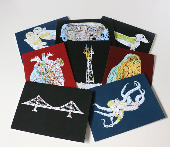 Map Card Set - Choose Your Favorite Designs
