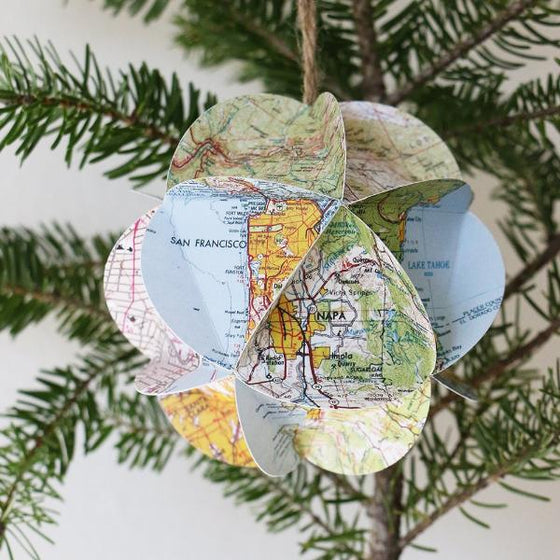 California Map Ornament