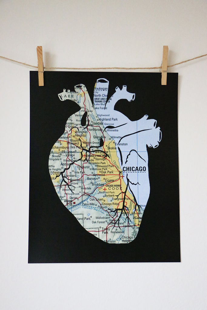 """Heart of Chicago"" Print"