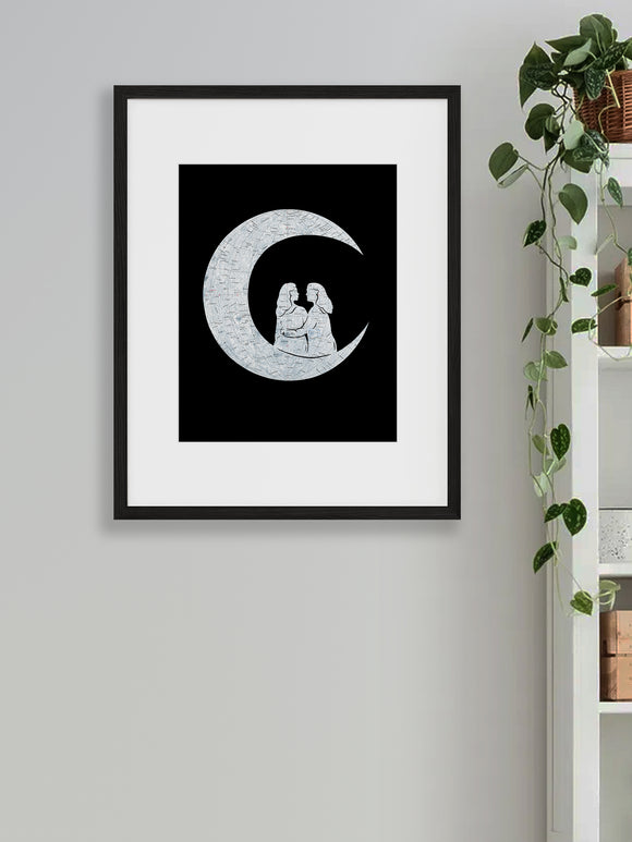 """To the Moon and Back"" Women Print"