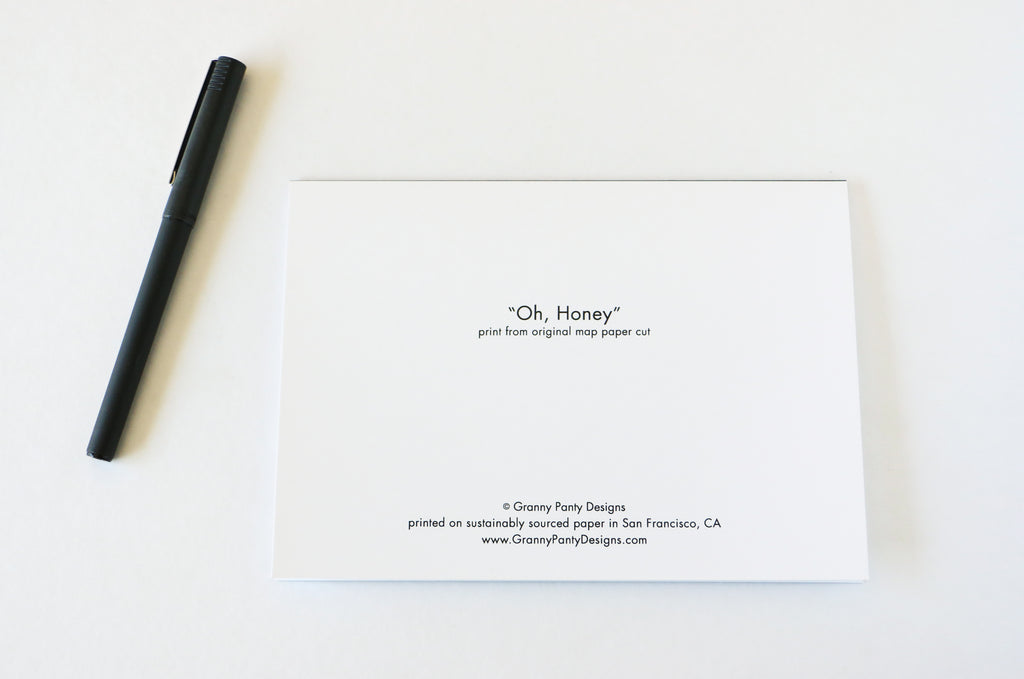 """Oh, Honey"" Card"